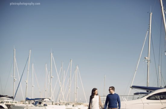 saliboat engagement photo session lisbon portugal