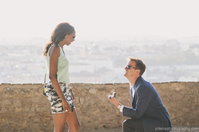 Marriage Proposal in Lisbon